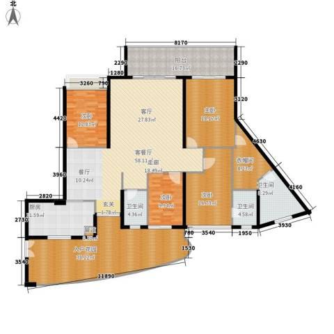 均城上岛水岸4室1厅3卫1厨211.00㎡户型图