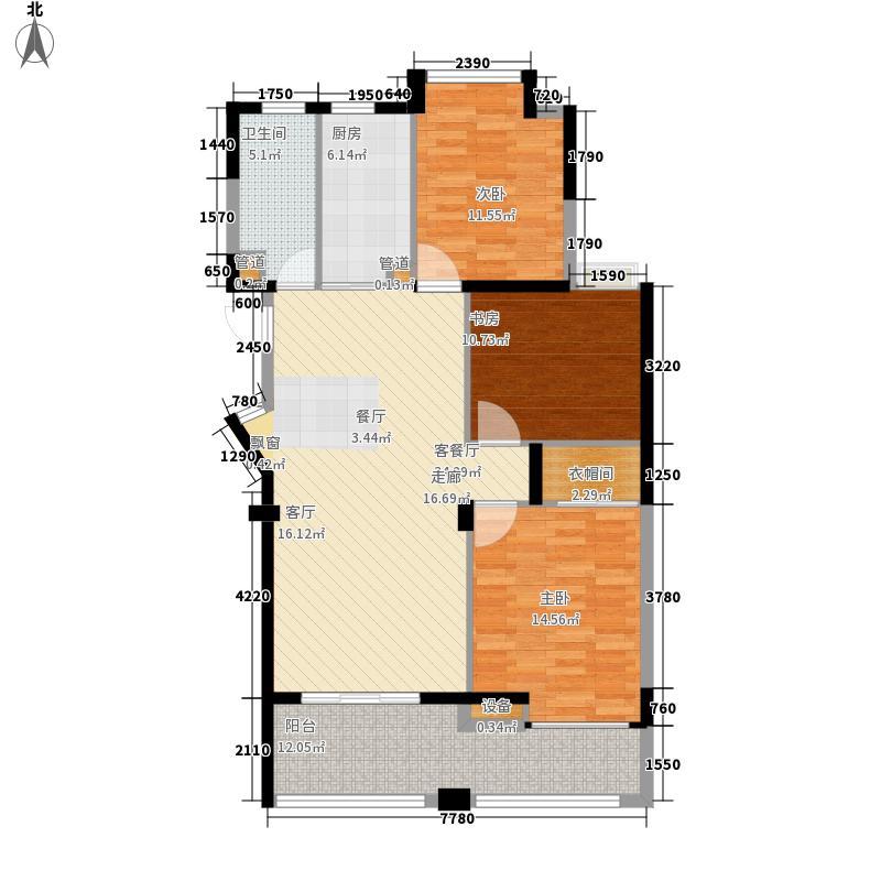 盛世豪庭108.70㎡三期D面积10870m户型