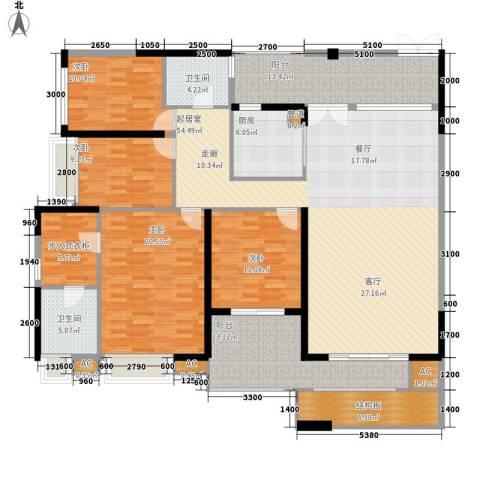 万科金御华府4室0厅2卫1厨171.00㎡户型图