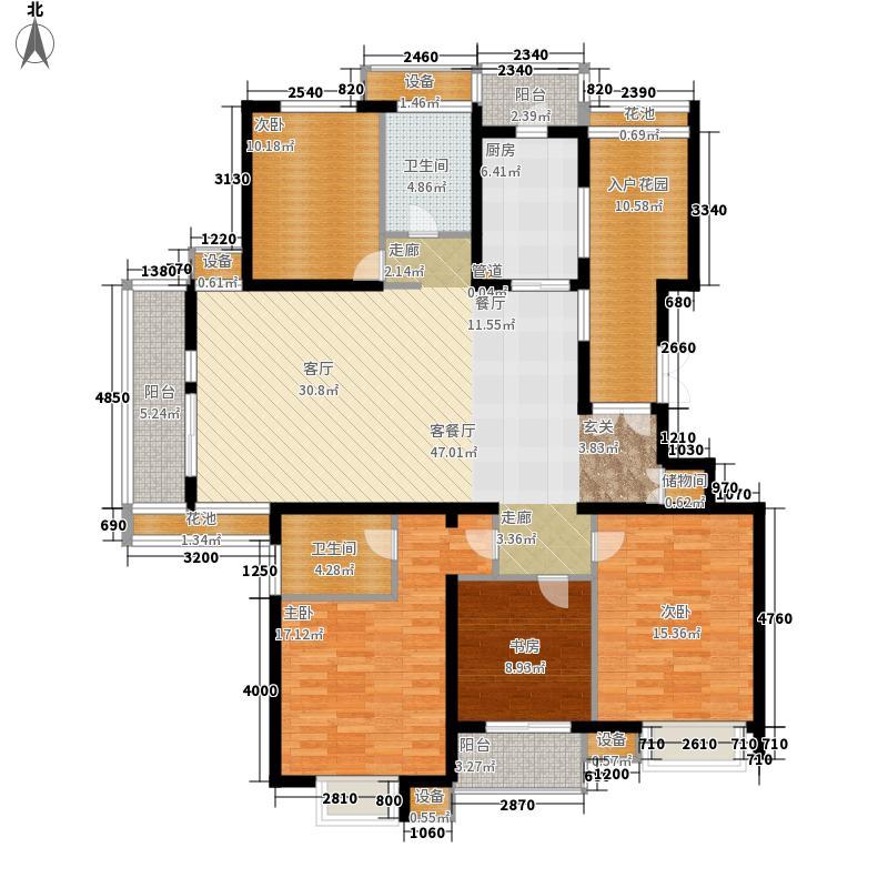 首开水晶城163.00㎡首开水晶城户型图三期E户型11#、15#4室2厅2卫1厨户型4室2厅2卫1厨