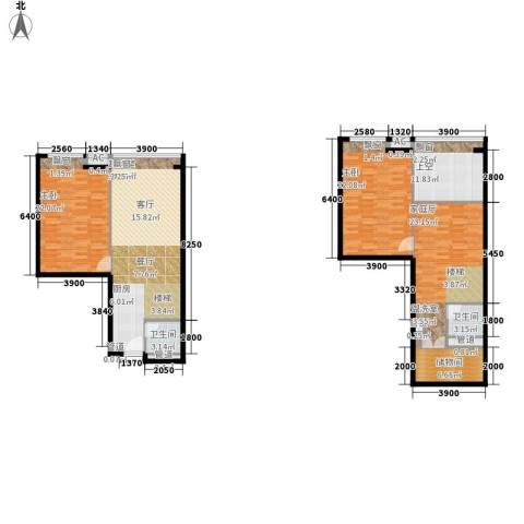 敏捷伊顿公馆2室0厅2卫0厨180.00㎡户型图