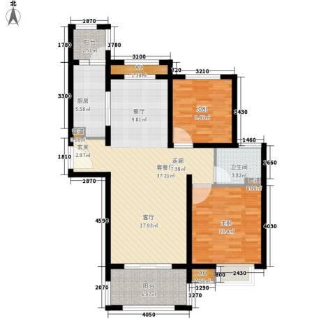 大地之歌2室1厅1卫1厨97.00㎡户型图