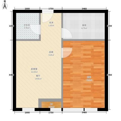 开发区国际大厦1室0厅1卫1厨84.00㎡户型图