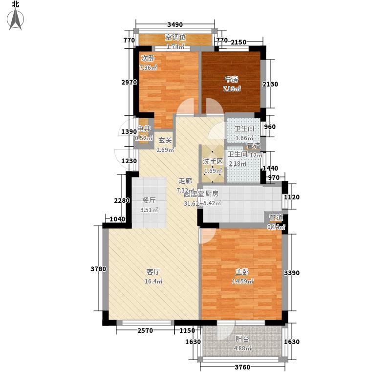 万科魅力之城90.00㎡万科魅力之城户型图A1区28号楼B户型3室2厅1卫1厨户型3室2厅1卫1厨