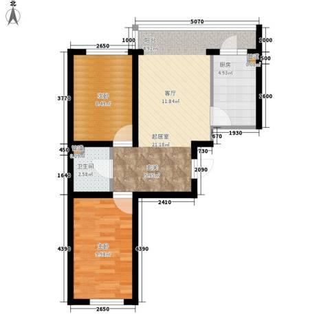 天薇丽景园2室0厅1卫1厨56.00㎡户型图