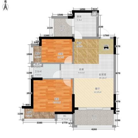 荆门碧桂园2室0厅1卫1厨86.00㎡户型图