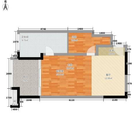 聚龙湖1室0厅1卫0厨65.51㎡户型图