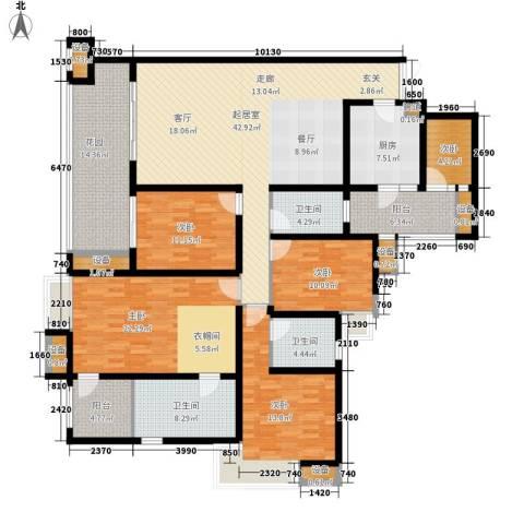 劲力五星城5室0厅3卫1厨230.00㎡户型图
