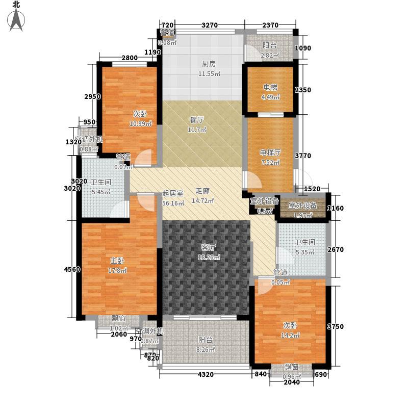 观海路8号140.00㎡D1户型3室2厅