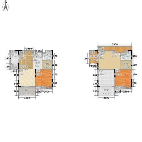 敏捷伊顿公馆2室0厅2卫1厨149.21㎡户型图