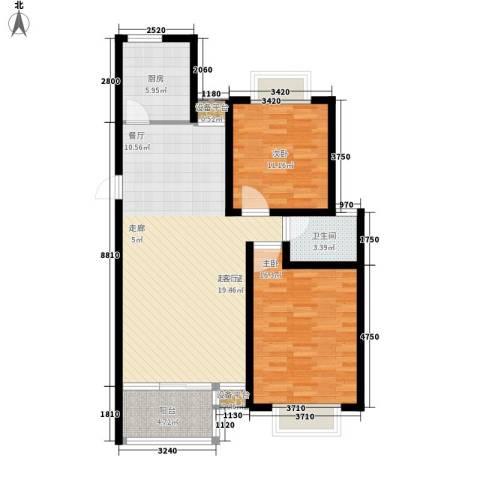 沈州花园2室0厅1卫1厨110.00㎡户型图