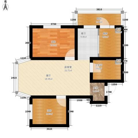 天薇丽景园2室0厅1卫1厨57.00㎡户型图