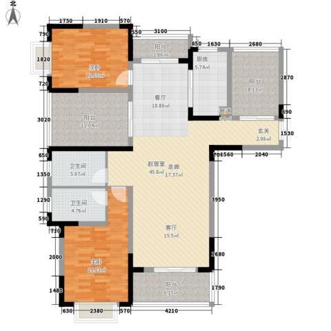 博威香槟小镇2室0厅2卫1厨139.00㎡户型图