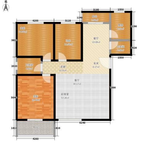 长丰园项目3室0厅2卫1厨137.00㎡户型图