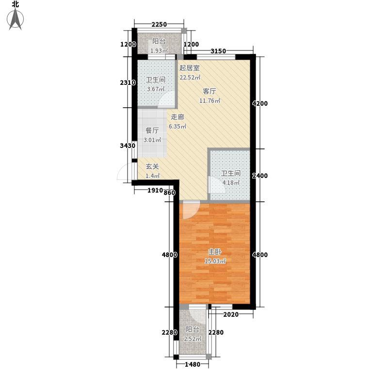 水映西山65.99㎡水映西山户型图户型图1室2厅1卫1厨户型1室2厅1卫1厨