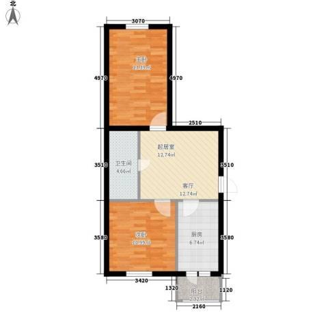 安通家园2室0厅1卫1厨72.00㎡户型图