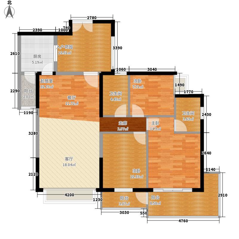 香山美树苑117.67㎡香山美树苑户型图5/6栋D户型3室2厅2卫户型3室2厅2卫