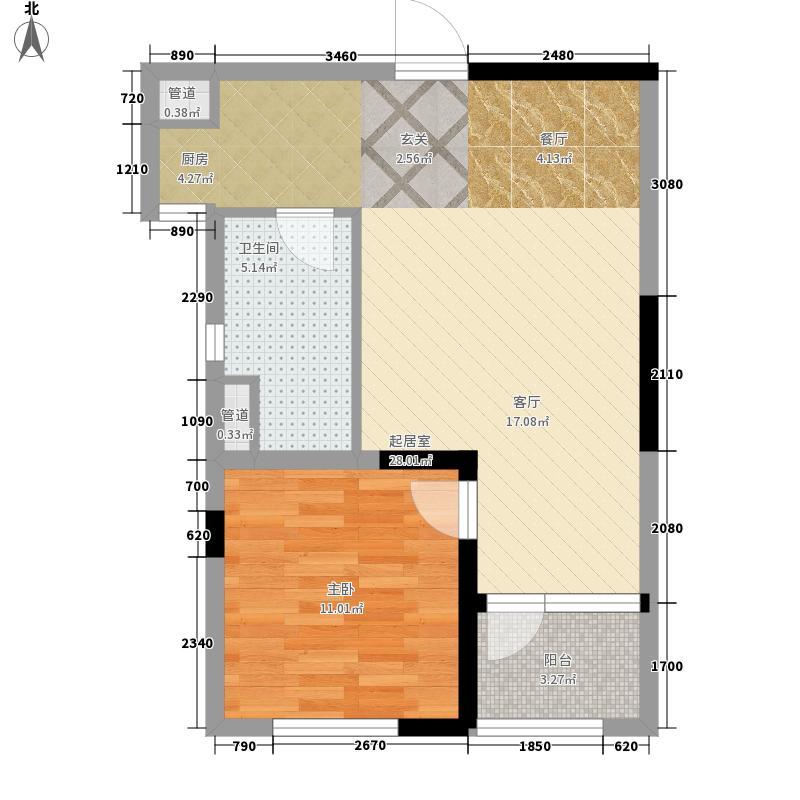朗诗未来之家55.00㎡三期S户型1室1厅1卫