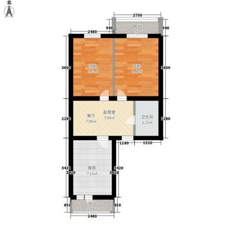 安通家园2室0厅1卫1厨54.00㎡户型图