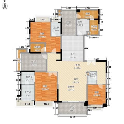 锦绣山河2室0厅3卫1厨266.00㎡户型图