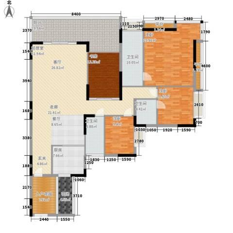 凯旋居4室0厅3卫1厨208.00㎡户型图