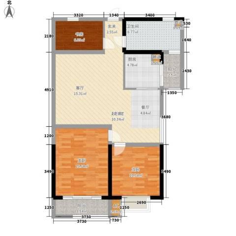 五岭新天地二期 天一华府3室0厅1卫1厨96.00㎡户型图