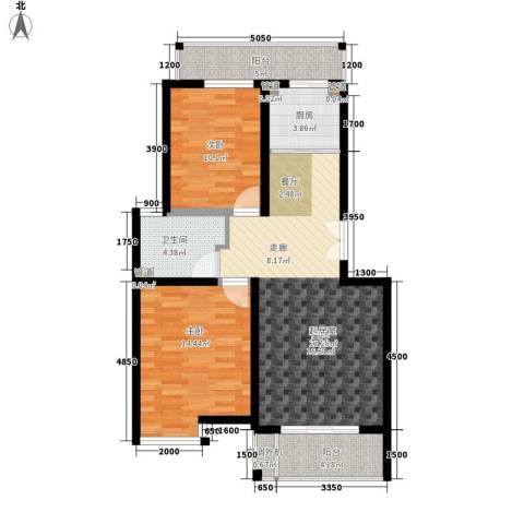 新城佳园2室0厅1卫1厨91.00㎡户型图