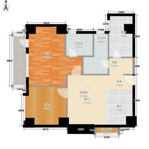 假日豪庭2室0厅2卫1厨106.00㎡户型图