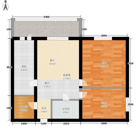 安通家园2室0厅1卫1厨67.00㎡户型图