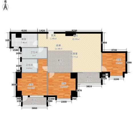 假日豪庭3室0厅2卫1厨136.00㎡户型图