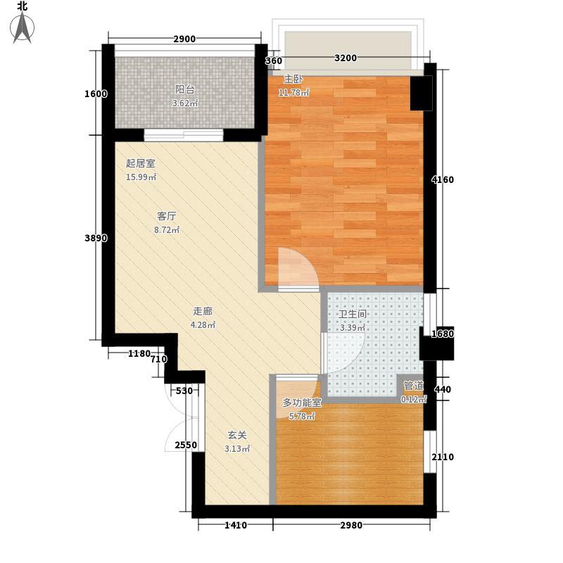 联邦广场52.96㎡联邦广场户型图1室1厅1卫1厨户型10室