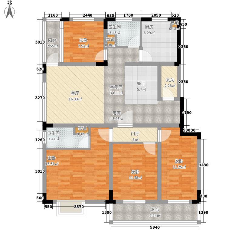 星城书院139.62㎡4栋C12面积13962m户型