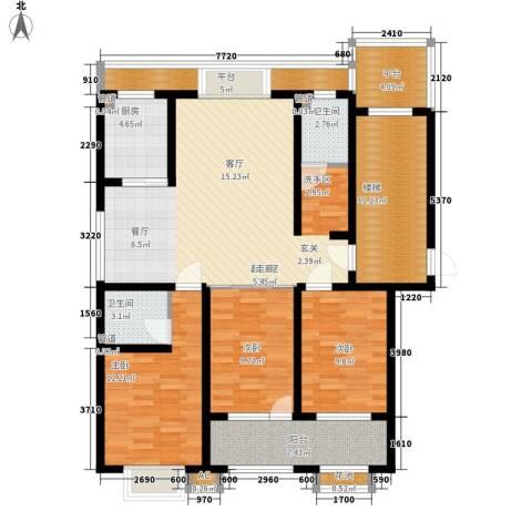 明泉馨居3室0厅2卫1厨122.00㎡户型图