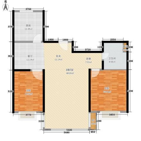 春天花园2室0厅1卫1厨145.00㎡户型图
