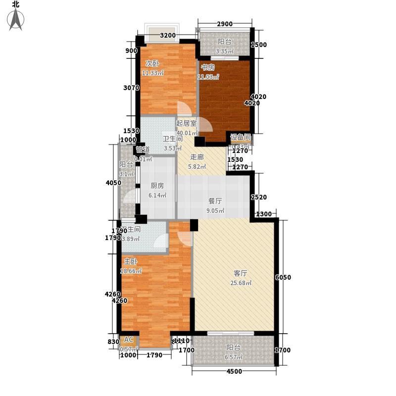 联邦广场134.26㎡联邦广场户型图3室2厅2卫1厨户型10室