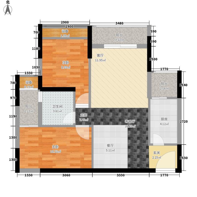 和亨城市广场75.00㎡和亨城市广场户型图海山道1号2室户型图2室2厅1厨户型2室2厅1厨