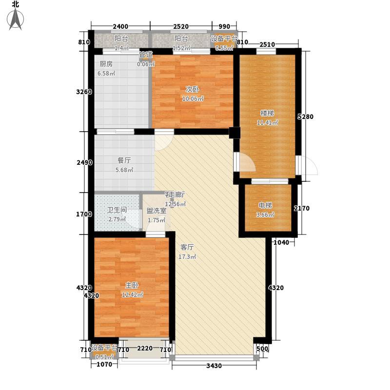 水晶城95.20㎡水晶城户型图S-E户型2室2厅1卫户型2室2厅1卫