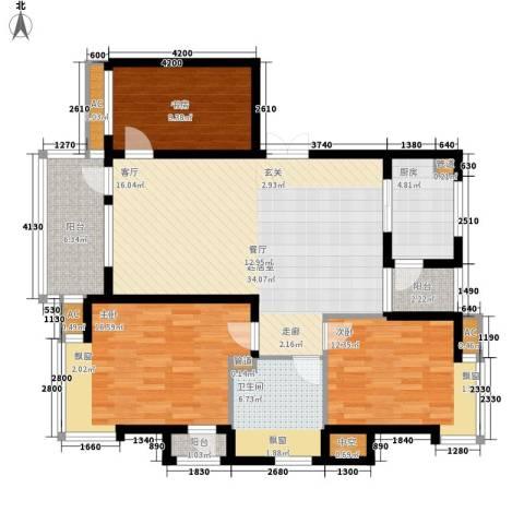 长福花园3室0厅1卫1厨139.00㎡户型图