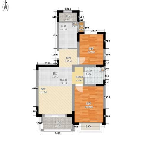 金丰花园(万江)2室0厅1卫1厨72.27㎡户型图