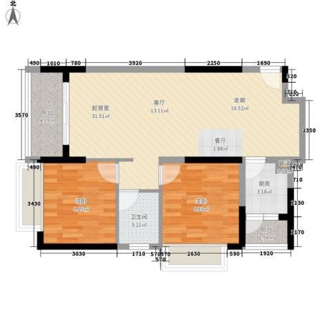 城市风景2室0厅1卫1厨114.00㎡户型图
