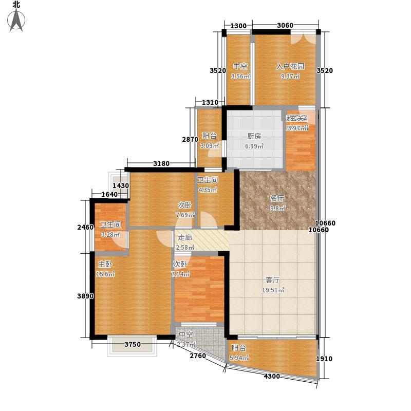 香山美树苑120.92㎡香山美树苑户型图7栋C户型3室2厅2卫户型3室2厅2卫