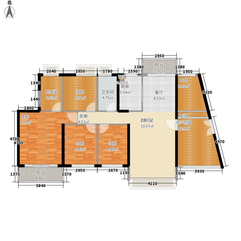 香山美树苑138.51㎡香山美树苑户型图7栋B户型4室2厅2卫户型4室2厅2卫
