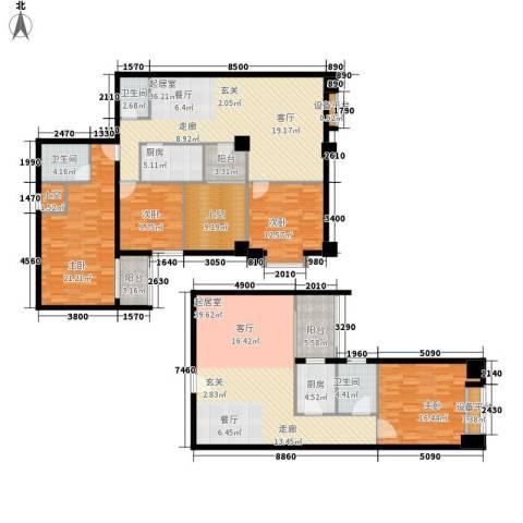 假日豪庭4室0厅3卫2厨181.35㎡户型图