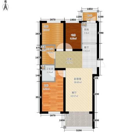 天薇丽景园3室0厅2卫1厨72.00㎡户型图
