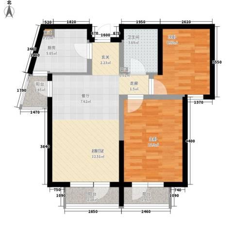金丰花园2室0厅1卫1厨98.00㎡户型图