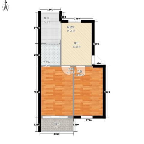 长安小区2室0厅1卫1厨63.00㎡户型图