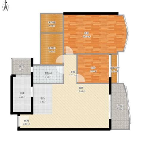 荔城碧桂园2室1厅1卫1厨160.00㎡户型图
