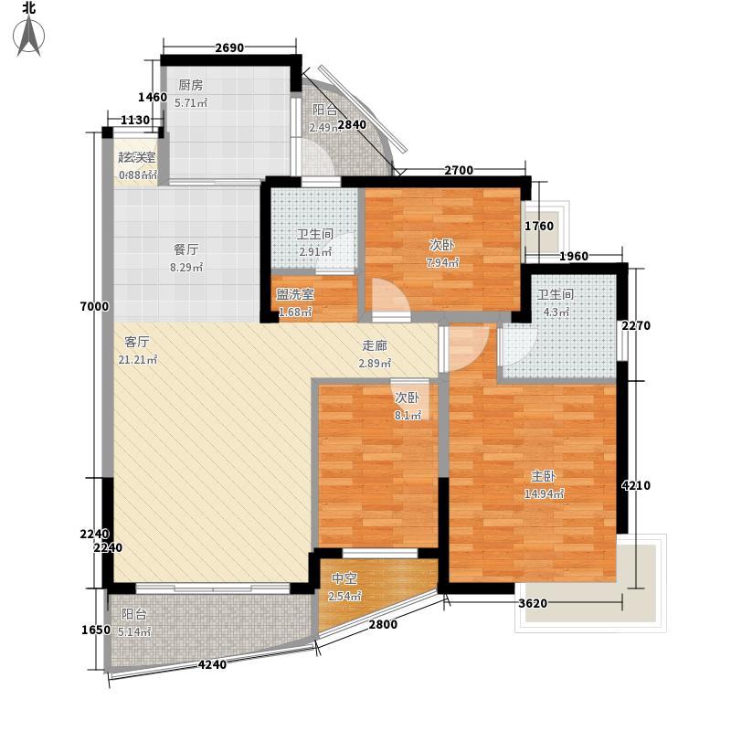 香山美树苑107.38㎡香山美树苑户型图9栋E户型3室2厅2卫户型3室2厅2卫