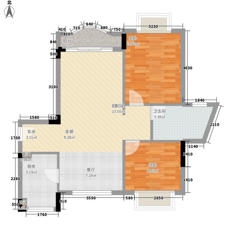桂芳园三期73.00㎡桂芳园三期2室户型2室