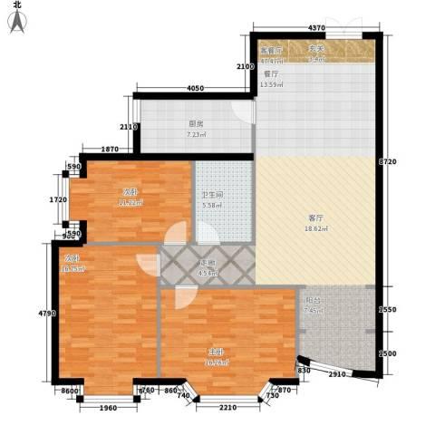 金苑华城3室1厅1卫1厨134.00㎡户型图